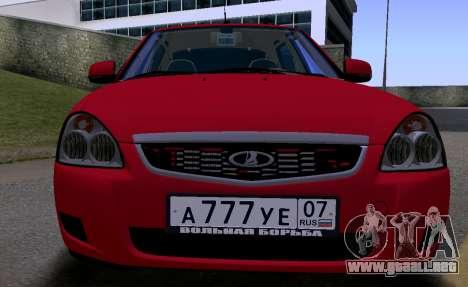 VAZ 2172 KBR para GTA San Andreas left