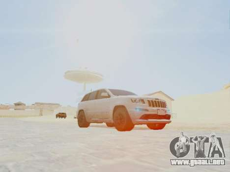 Jeep Grand Cherokee SRT8 2013 Tuning para la visión correcta GTA San Andreas