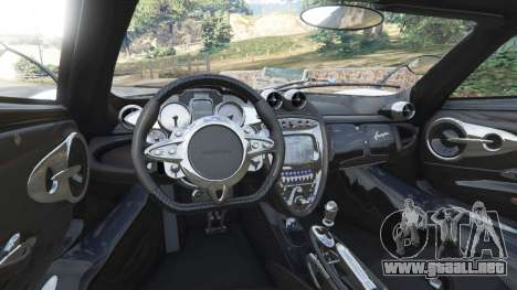 GTA 5 Pagani Huayra 2013 v1.1 [grey rims] vista lateral trasera derecha