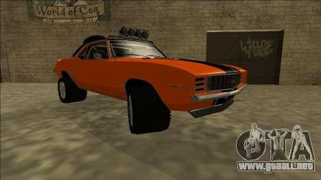 Chevrolet Camaro SS Rusty Rebel para la visión correcta GTA San Andreas