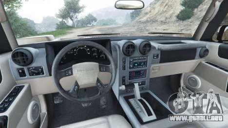 GTA 5 Hummer H2 2005 [tinted] vista lateral trasera derecha