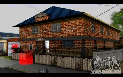 New CJ House para GTA San Andreas segunda pantalla