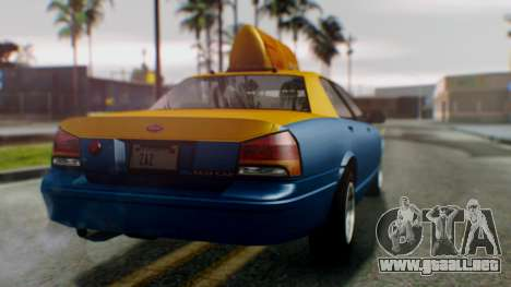 Vapid Taxi para GTA San Andreas left