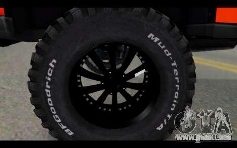 Chevrolet Traiblazer Off-Road para la visión correcta GTA San Andreas