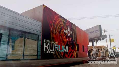 Kurumi Tokisaki Graffiti para GTA San Andreas tercera pantalla