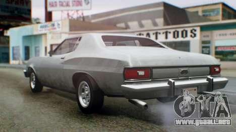 Ford Gran Torino 1974 IVF para la visión correcta GTA San Andreas