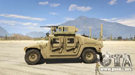 GTA 5 M1116 Humvee Up-Armored 1.1 vista lateral izquierda
