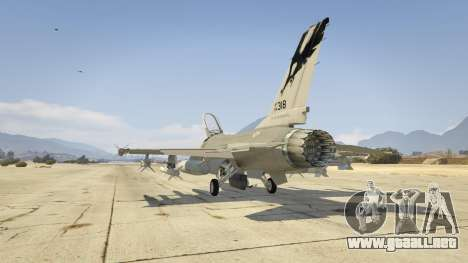 GTA 5 F-16C Fighting Falcon tercera captura de pantalla