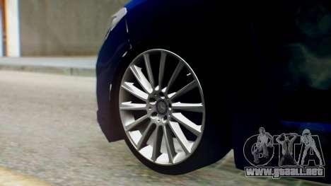 Renault Fluence King para GTA San Andreas vista posterior izquierda