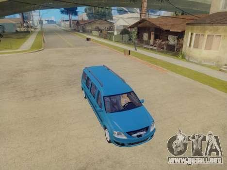 Lada Largus 7-door para GTA San Andreas vista hacia atrás