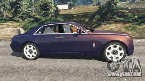 GTA 5 Rolls Royce Ghost 2014 v1.2 vista lateral izquierda