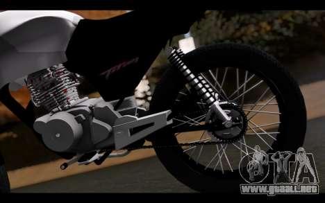 Honda CG Titan 150 Stunt Imitacion para GTA San Andreas vista hacia atrás