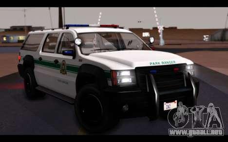 GTA 5 Declasse Sheriff Granger IVF para la vista superior GTA San Andreas