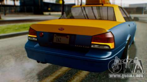Vapid Taxi para la vista superior GTA San Andreas