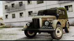 GAZ-69A DE LA FIV para GTA San Andreas