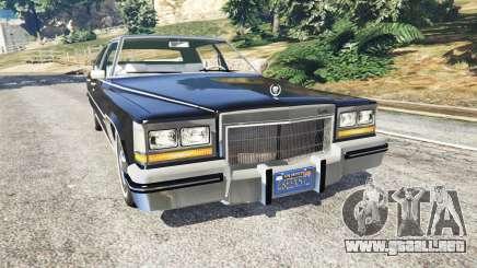 Cadillac Fleetwood Brougham 1985 para GTA 5