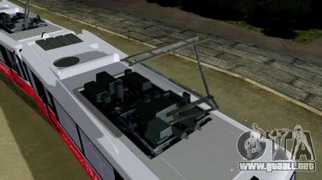 GTA 5 Metrotrain para GTA San Andreas vista posterior izquierda
