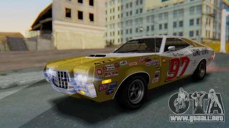 Ford Gran Torino Sport SportsRoof (63R) 1972 IVF para vista inferior GTA San Andreas