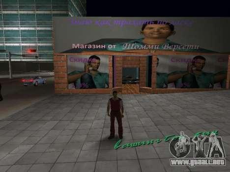 Tienda de Tommy Vercetti para GTA Vice City