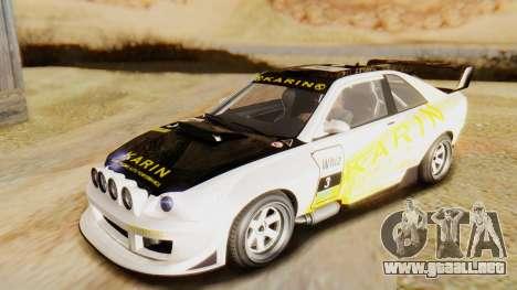GTA 5 Karin Sultan RS IVF para visión interna GTA San Andreas