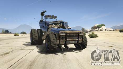 GTA 5 Mad Max The Gigahorse vista trasera