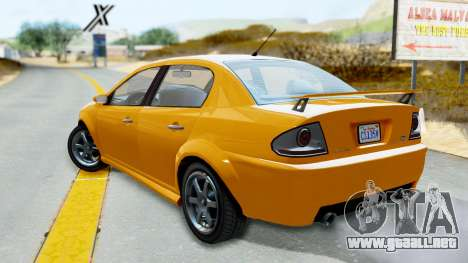 GTA 5 Declasse Premier Coupe para GTA San Andreas left