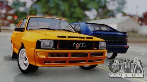 Audi Quattro Coupe 1983 para GTA San Andreas