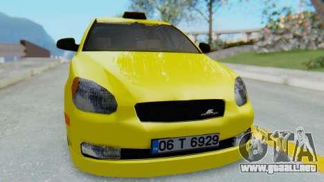Hyundai Accent Era para la visión correcta GTA San Andreas