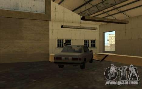 El garaje en el muelle para GTA San Andreas sucesivamente de pantalla