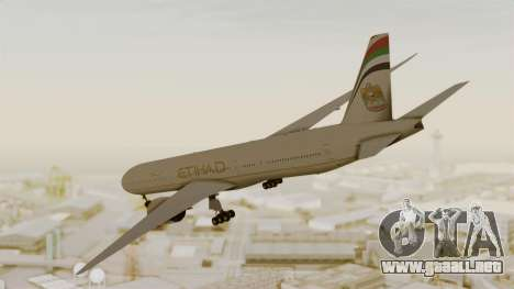 Boeing 777-9x Etihad Airways para GTA San Andreas left