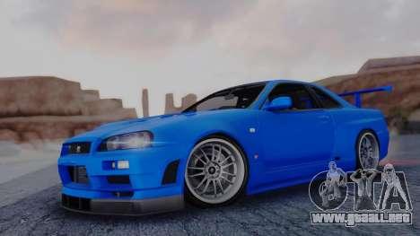 Nissan Skyline R34 Full Tuning para GTA San Andreas
