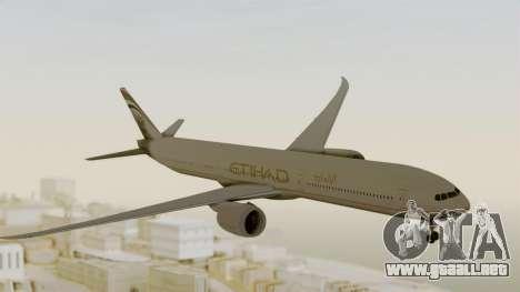 Boeing 777-9x Etihad Airways para GTA San Andreas vista posterior izquierda