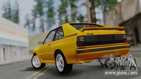 Audi Quattro Coupe 1983 para el motor de GTA San Andreas
