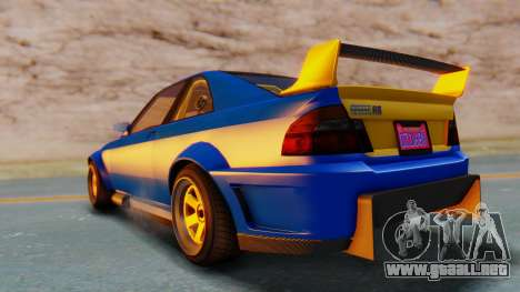 GTA 5 Karin Sultan RS Carbon para GTA San Andreas vista posterior izquierda