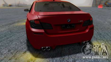 BMW M5 2012 Stance Edition para vista inferior GTA San Andreas