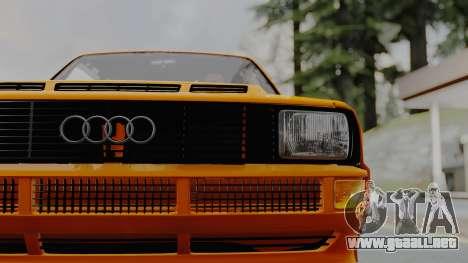Audi Quattro Coupe 1983 para GTA San Andreas vista hacia atrás