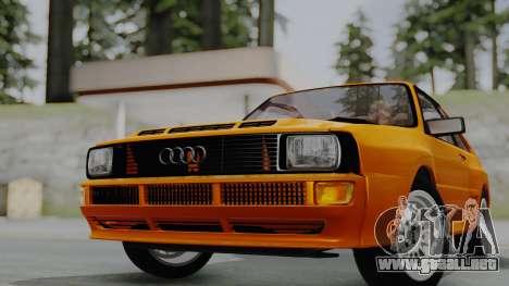 Audi Quattro Coupe 1983 para GTA San Andreas vista posterior izquierda