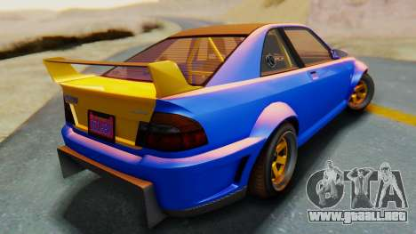 GTA 5 Karin Sultan RS Carbon para GTA San Andreas left