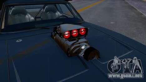 Dodge Charger from FnF4 para GTA San Andreas vista hacia atrás