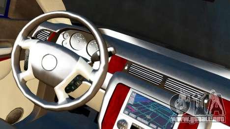GMC Yukon Denali 2015 para GTA San Andreas vista posterior izquierda