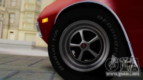 Ford Gran Torino Sport SportsRoof (63R) 1972 PJ1 para GTA San Andreas vista posterior izquierda
