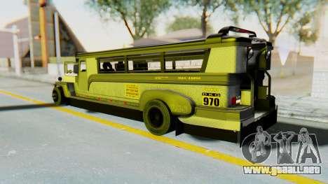 LGS Motors Eggtype Jeepney para GTA San Andreas left