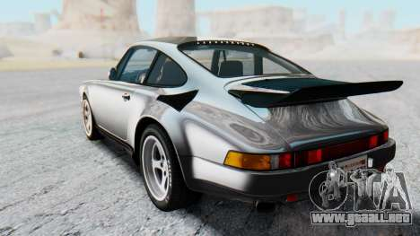 RUF CTR Yellowbird 1987 v1.1 Another Edition para GTA San Andreas vista posterior izquierda