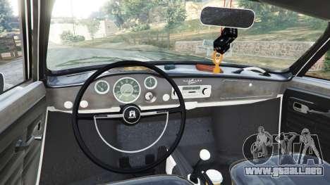 GTA 5 Volkswagen Karmann-Ghia Typ 14 1967 vista lateral trasera derecha