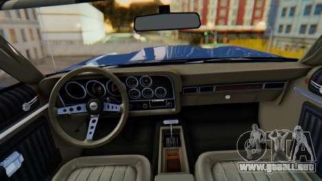 Ford Gran Torino Sport SportsRoof (63R) 1972 IVF para GTA San Andreas vista posterior izquierda