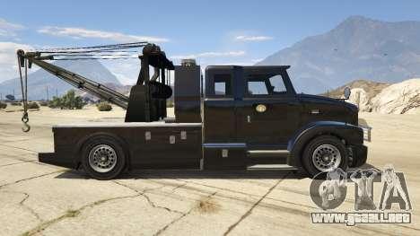 GTA 5 Police Towtruck vista lateral izquierda