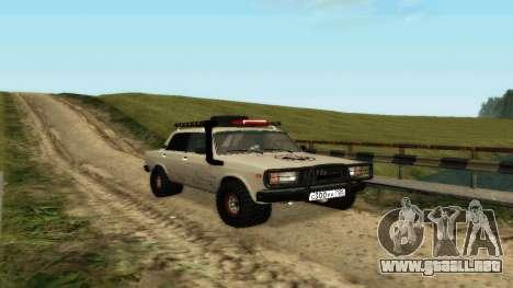 VAZ 2107 4x4 para GTA San Andreas left
