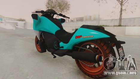 GTA 5 Dinka Vindicator SA Light para GTA San Andreas left