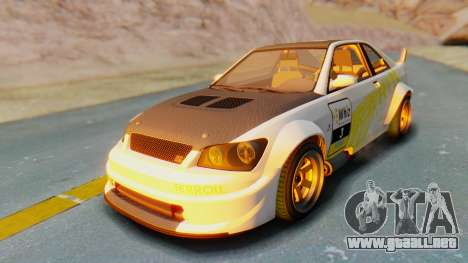 GTA 5 Karin Sultan RS Carbon IVF para vista inferior GTA San Andreas