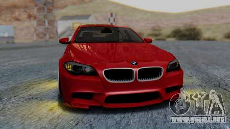 BMW M5 2012 Stance Edition para vista lateral GTA San Andreas